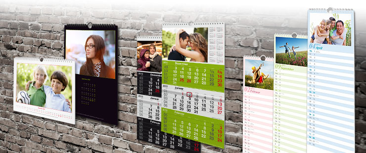Calendar de perete PhotoFancy