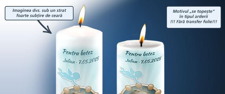 Personalizare și Imprimare Lumânare De Botez
