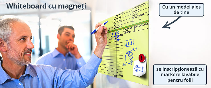 Personalizare whiteboard magnetic